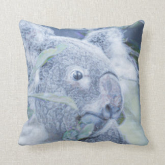 azul swirly painting.jpg del oso de koala cojín decorativo