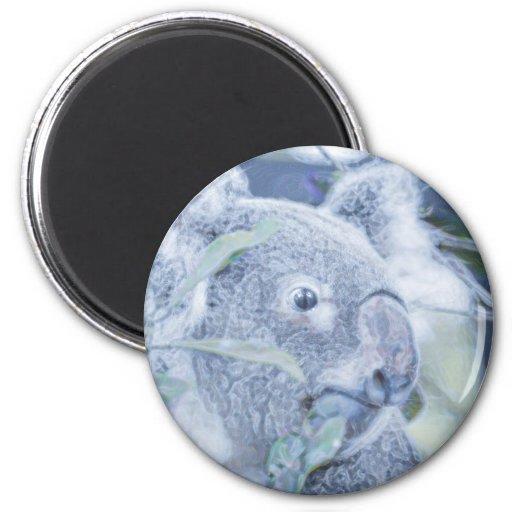 azul swirly painting.jpg del oso de koala imanes