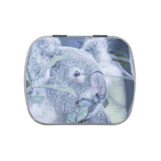 azul swirly painting.jpg del oso de koala jarrones de dulces