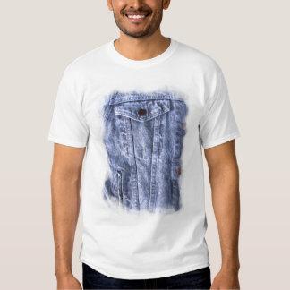 ~ azul T del dril de algodón Camisas