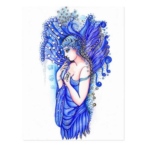 Azul Tarjeta Postal
