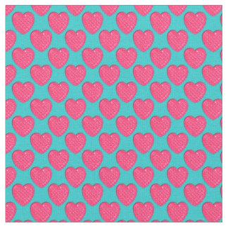 - Azul - tela Corazón-Rosada y ligera brillante Telas