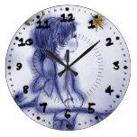 Azul teñido poco ángel reloj
