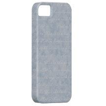 Azul/textura gris iPhone 5 Case-Mate protectores