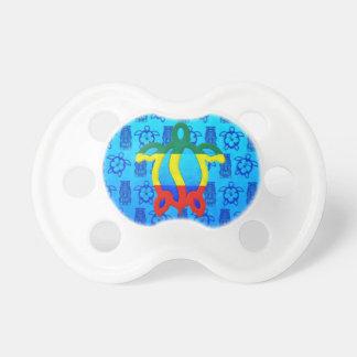 Azul Tiki de Rasta Honu Chupetes Para Bebés