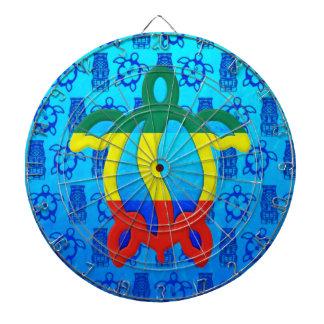Azul Tiki de Rasta Honu Tablero Dardos