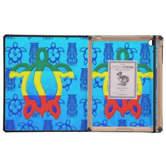 Azul Tiki de Rasta Honu iPad Protector