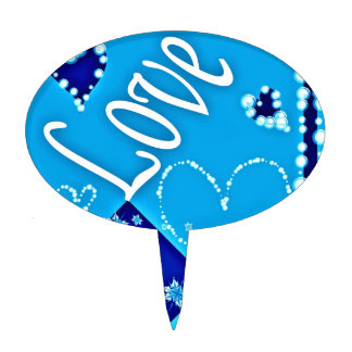 Azul todo del amor figura para tarta