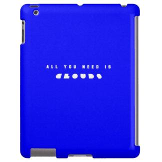 Azul todo usted necesita las nubes funda para iPad