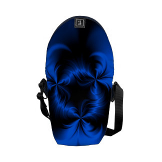 Azul torcido bolsas de mensajería