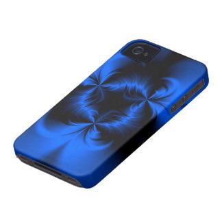 Azul torcido iPhone 4 Case-Mate fundas