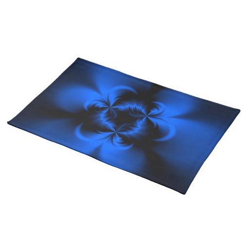 Azul torcido mantel individual