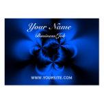 Azul torcido tarjetas de visita grandes