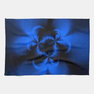 Azul torcido toalla