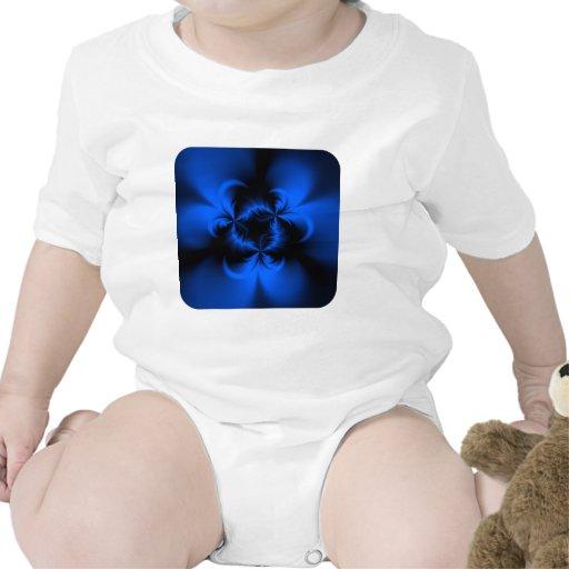 Azul torcido trajes de bebé