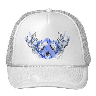 Azul tribal de la conciencia gorros