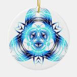 azul tribal deformado ornaments para arbol de navidad