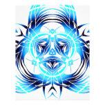 azul tribal deformado membretes personalizados