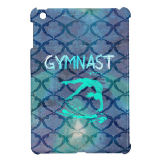 Azul tribal del modelo del gimnasta iPad mini cárcasas
