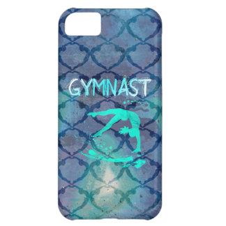 Azul tribal del modelo del gimnasta funda para iPhone 5C