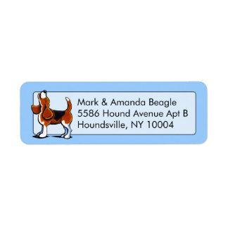 Azul tricolor del estudio de la bahía del beagle etiquetas de remite