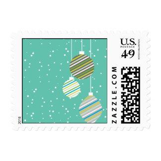 Azul tropical de los ornamentos que brilla sello postal