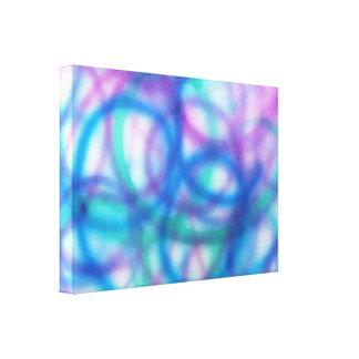 Azul, trullo y modelo púrpura impresión en lona estirada