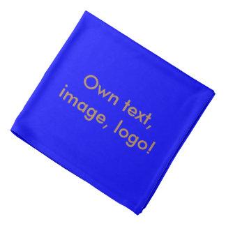 Azul uni real del pañuelo bandanas