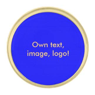 Azul uni real del Pin de la solapa Pins Dorados