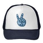 Azul - V-Muestra de la paz Gorras De Camionero