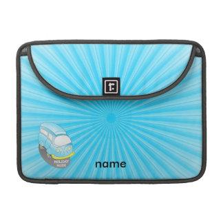 Azul Van del modo del día de fiesta Fundas Para Macbook Pro