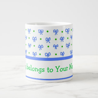 Azul/verde/blanco arquea la taza del jumbo de las taza grande