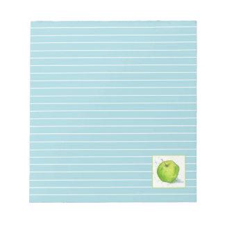 """Azul verde """"golden delicious"""" de la acuarela de bloc de papel"""