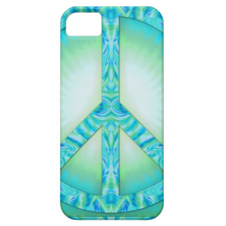 Azul-Verdes del símbolo de paz iPhone 5 Cárcasa
