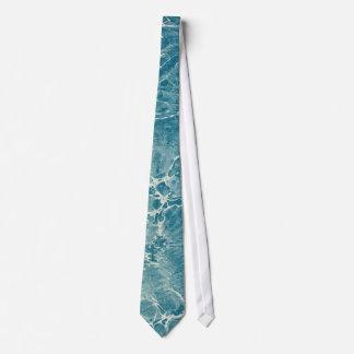 Azul veteado corbatas personalizadas