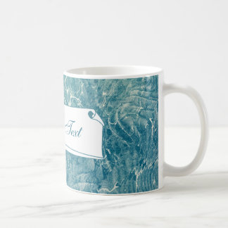 Azul veteado tazas