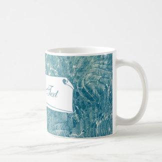 Azul veteado taza clásica