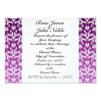 Azul VI (púrpura) que casa la invitación