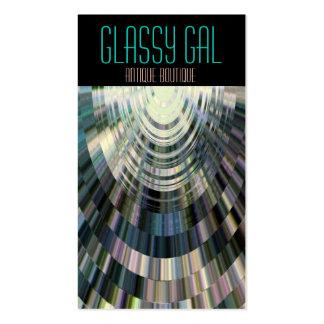 Azul vidrioso de la bola de discoteca del galón de plantilla de tarjeta de negocio