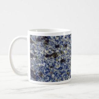 Azul viejo completamente sólido del esmalte taza