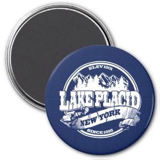 Azul viejo del círculo del Lake Placid Imán Redondo 7 Cm