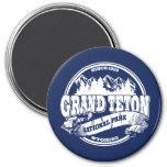 Azul viejo magnífico del círculo de Teton Imán Para Frigorífico