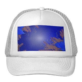 Azul VIII del Poinsettia del navidad Gorros Bordados