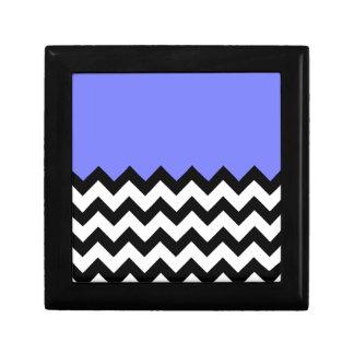 Azul-Violeta-En-Negro-y-Blanco-Zigzag-Modelo Caja De Joyas