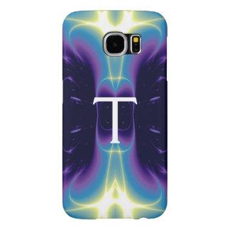 Azul violeta púrpura del MONOGRAMA de las ONDAS Fundas Samsung Galaxy S6