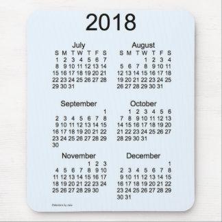 Azul vivo 2018 calendario de 6 meses por Janz Alfombrilla De Raton