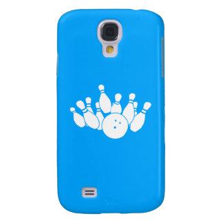 Azul vivo de la silueta de los bolos de HTC Funda Para Galaxy S4