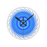 Azul Whirlpool de la aguamarina Relojes De Pared