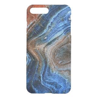 Azul y ágata de Brown con nácar Fundas Para iPhone 7 Plus