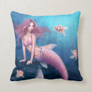 Azul y aguamarina del rosa de la almohada de la si